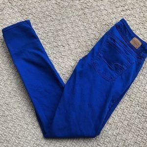 AEO Tall Royal Blue Skinny Jeans